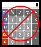 Image of Calculator with with Don't Use Symbol Overlay